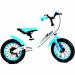 Цены на Rivertoys Беговел Rivertoys V - 12 бело - голубой RiverBike V - 12 это современная модель велосипеда без колёс для детей от 2 - х лет: Стальная рама обеспечивает прочность конструкции и долгий срок службы. Руль и сиденье регулируются по высоте без использования к