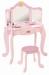 Цены на KidKraft Туалетный столик KidKraft Princess Vanity & Stool 76123_KE Маленькие модницы будут в восторге от такого красивого туалетного столика розового цвета,   который украсит собой интерьер комнаты. Мебельный гарнитур выполнен из прочной деревянной плиты М