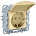 Цены на Электрическая розетка с заземлением со шторками с защитной крышкой винтовой зажим IP20 Schneider Electric UNICA бежевая MGU5.037.25TAZD