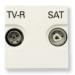 Цены на Телевизионная розетка TV - R - SAT ABB Niessen Zenit оконечная с накладкой Альпийский белый N2251.7 BL