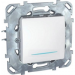 Цены на Выключатель одноклавишный с подсветкой Schneider Electric UNICA белый MGU5.201.18NZD
