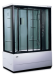 Цены на LanMeng LM837TG R 148х85х213 см Стиль «хай тек»,   ручное управление функциями,   мощное ударопрочное стекло,   надежный поддон с антискольжением,   удобное сиденье. LanMeng LM837TG  -  это закрытый душевой бокс с ванной прямоугольной формы,   оборудованный системой