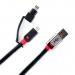 Цены на Monster Connect2 2 in 1 USB/ Micro/ Lightning 2m Black USB/ Micro/ Lightning кабель,   предназначенный для синхронизации ,   а также зарядки. Длинна 2м