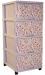 Цены на Dunya Plastic Комод Dunya Plastic Горох 0403 - 8 4 глубоких и вместительных ящика ящики легко достаются и вставляются обратно съемные колесики безопасен для малыша,   т.к. не имеет острых углов и не переворачивается ящики вытащить полностью не возможно,   а зна