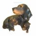 Цены на Фигура декоративная садовая Такса с щенками L31W21H26 см