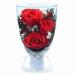 Цены на Цветы в стекле: Композиция из натуральных роз. h - 12cm ;  d -  8,  5 cm стекло ,  натуральные цветы