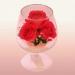 Цены на Цветы в стекле: Композиция из натуральных роз.Размер: