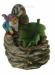 Цены на Фонтан: Гном с темной улиточной раковиной и зеленым листом Н*L*W=16*12*12 см