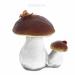 Цены на Изделие декоративное Гриб белый двойной с бабочкой,   Н23 см
