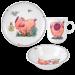 Цены на Seltmann Weiden Сервиз детский 3 предмета (кружка,   тарелка 20 см,   салатник 16 см),   фарфор,   декор Piggeldy Салатник,   16 см  -  1 шт.