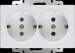 Цены на Werkel двойная с заземлением белая WL01 - SKG - 02 - IP20 4690389073106 Розетка двойная с заземлением белая WL01 - SKG - 02 - IP20 4690389073106