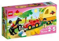 Фото LEGO Duplo 10807 Трейлер для перевозки лошади