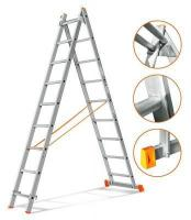 Эйфель Двухсекционная лестница Гранит 2х9