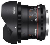 Samyang 12mm T3.1 ED AS NCS VDSLR Fish-eye Sony E