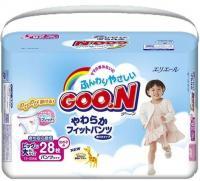 Goo.N Подгузники-трусики для девочек XXL 13-25 кг (28 шт.)