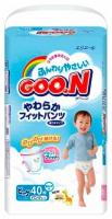 Goo.N Подгузники-трусики для мальчиков XL 12-20 кг (40 шт.)