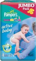 Pampers Active Baby Maxi Plus 4+ (62 ��.)