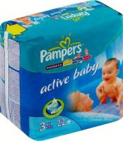 Pampers Active Baby Midi 3 (22 ��.)