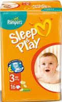 Pampers Sleep&Play Midi 3 (16 шт.)