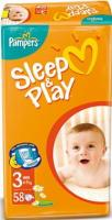 Pampers Sleep&Play Midi 3 (58 шт.)