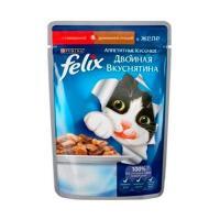 Felix Аппетитные кусочки с говядиной и птицей в желе 85 г