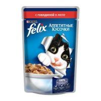 Felix Аппетитные кусочки с говядиной в желе 85 г