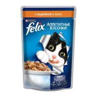 Felix Аппетитные кусочки с индейкой в желе 85 г