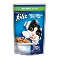 Felix Аппетитные кусочки с кроликом в желе 85 г
