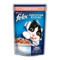 Felix Аппетитные кусочки с лососем в желе 85 г