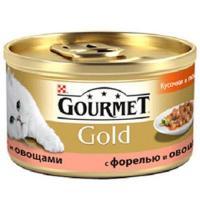 Gourmet Gold кусочки в подливке с форелью и овощами 0,085 кг