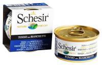 Schesir Консервы для кошек (тунец со снетками) 85 г