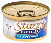 Stuzzy Gold консервы для кошек мусс из камбалы 85 гр