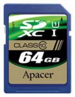 Apacer SDXC Class 10 UHS-I 64Gb (AP64GSDXC10U1-R)