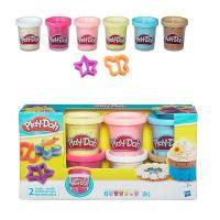 Hasbro Play-Doh 6 баночек с конфетти (B3423)