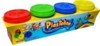 Plastelino Набор массы для лепки 4 цвета (NOR2649)