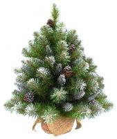 Triumph Tree Ель Императрица с шишками заснеженная в мешочке 0,90 м